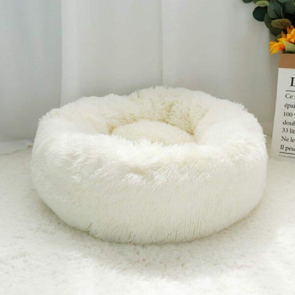 חיות מחמד כלב מיטת חם צמר עגול כלב מלונה בית ארוך קטיפה חורף חיות מחמד כלב מיטות עבור בינוני גדול כלבי חתולים רך ספה כרית מחצלות
