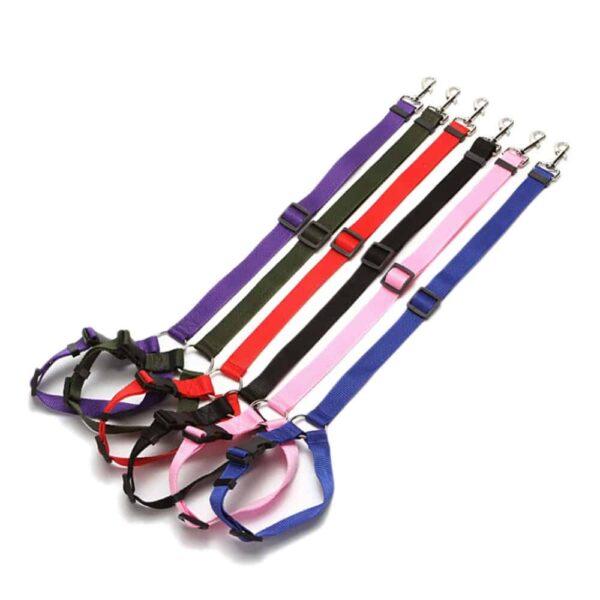 מוצרים לחיות מחמד אוניברסלי מעשי חתול כלב בטיחות מושב מתכוונן חגורת רצועת הרתמה גור מושב-חגורת נסיעות קליפ רצועה מוביל